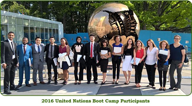 UN Boot Camp 2016 Participants