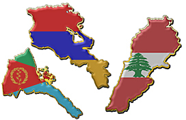 Armenia, Lebanon and Eritrea