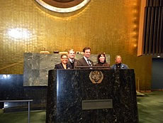U.S. Congressional Delegates at the U.N. General Assembly Hall