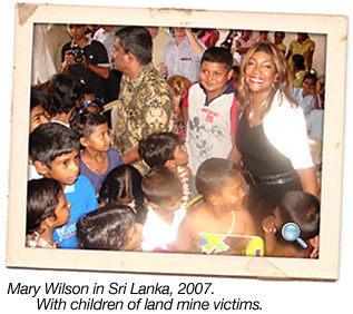 Mary Wilson in Sri Lanka