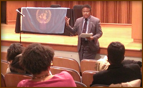 The Humpty Dumpty Institute arranges Climate Change lecture and student outreach by U.N. Permanent Representative of Palau at Morgan State University, a historically black university in Baltimore, Md.
