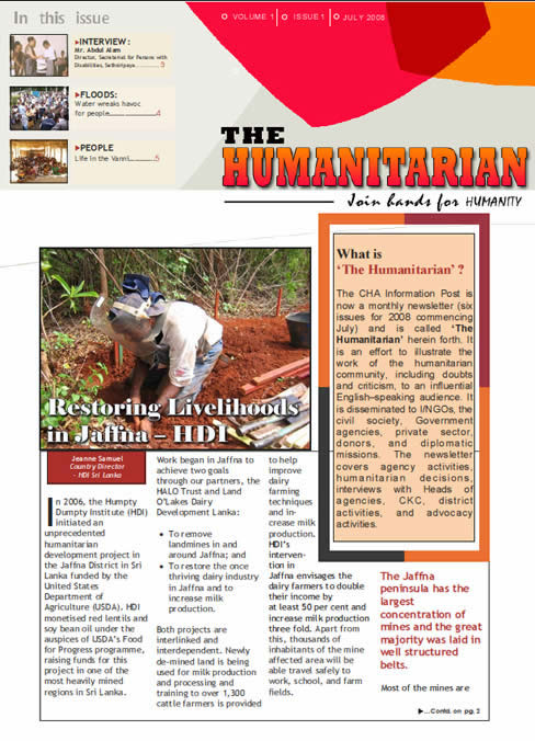 The Humanitarian Page 1