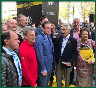 Mayor of Antwerp Bart De Wever and Delegation at Opening of the Tour du Flanders